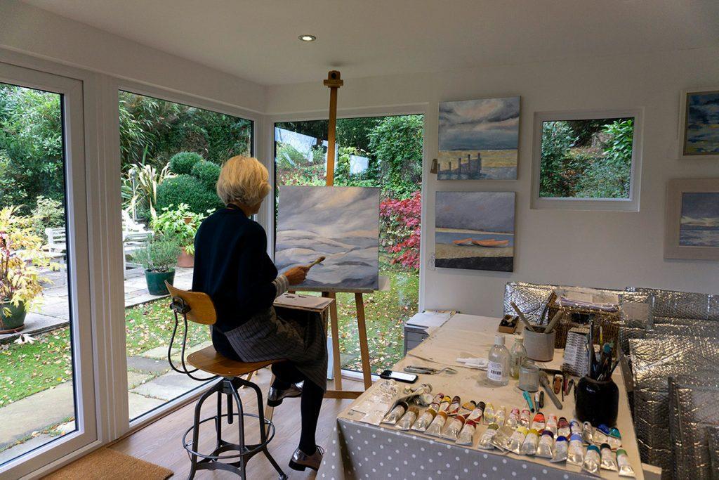 Katie in her studio